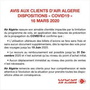 Communiqué d'Air Algérie